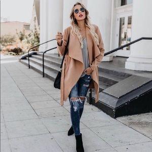 VICI Drape Coat in Camel